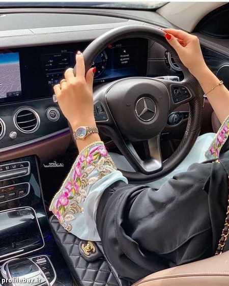 عکس دختر ماشین باز لاکچری برای پروفایل